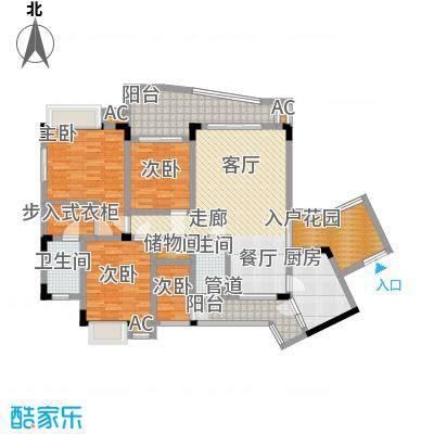 金香林116.00㎡26号楼标准层面积11600m户型