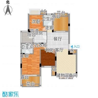 同创高原103.22㎡时尚洋房B3面积10322m户型