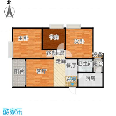 华彩俊豪72.72㎡3X2I面积7272m户型