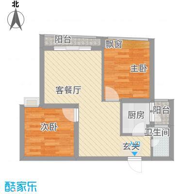 华彩俊豪61.83㎡2X2I面积6183m户型