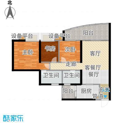 华彩俊豪91.57㎡3X2I面积9157m户型