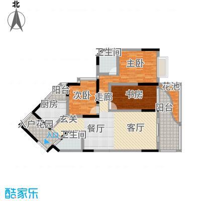 丰业御景铭洲99.33㎡E栋8号面积9933m户型