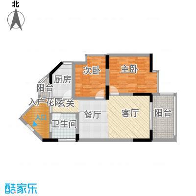丰业御景铭洲72.31㎡E栋3号面积7231m户型