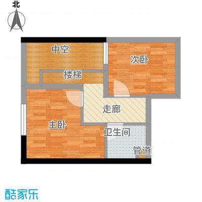 丰业御景铭洲39.90㎡CD栋夹层A面积3990m户型