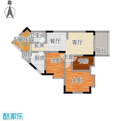 丰业御景铭洲84.48㎡E栋2号面积8448m户型