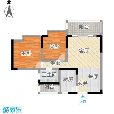 丰业御景铭洲68.19㎡A栋1号面积6819m户型