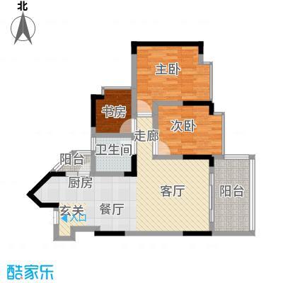 丰业御景铭洲71.80㎡A栋4号面积7180m户型