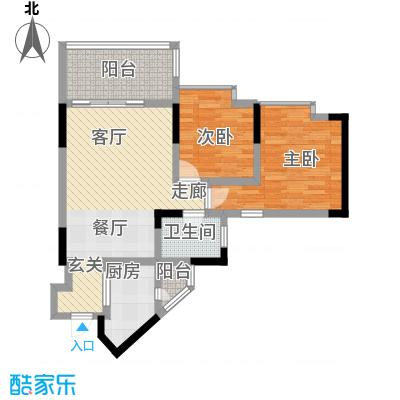 丰业御景铭洲65.91㎡A栋7号面积6591m户型