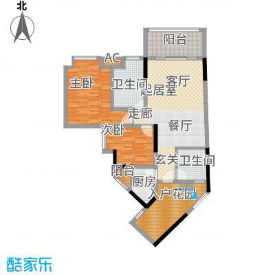 丰业御景铭洲83.91㎡EF栋D面积8391m户型