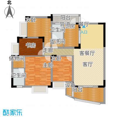 中兴渝景苑124.17㎡D2面积12417m户型