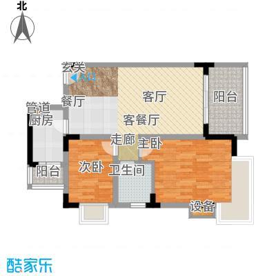 中兴渝景苑70.16㎡B3面积7016m户型