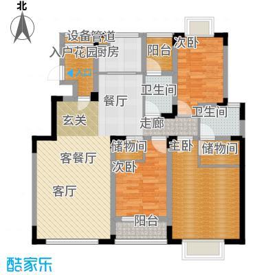 中兴渝景苑106.07㎡C2面积10607m户型