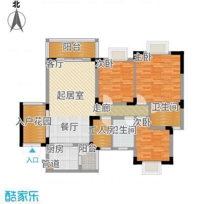 中兴渝景苑104.27㎡C142面积10427m户型