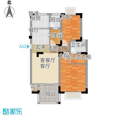 中兴渝景苑83.57㎡B1面积8357m户型