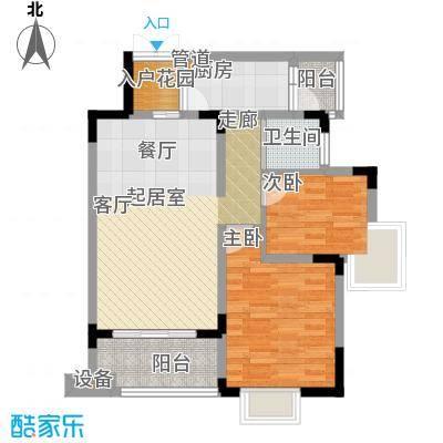 中兴渝景苑73.32㎡B5面积7332m户型