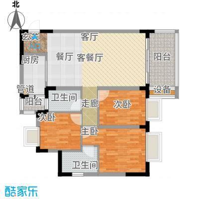 中兴渝景苑92.07㎡C9面积9207m户型