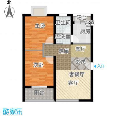 长青湖茶花小镇66.48㎡C型2面积6648m户型