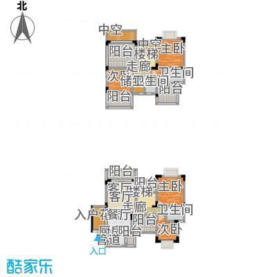 中兴渝景苑158.47㎡F15面积15847m户型