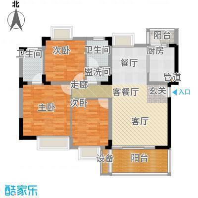 中兴渝景苑101.51㎡C102面积10151m户型