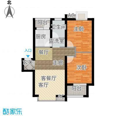 长青湖茶花小镇70.90㎡D型2面积7090m户型