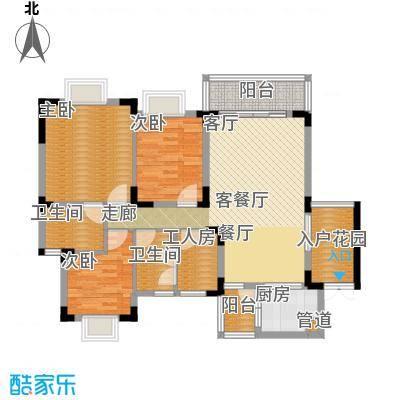 中兴渝景苑104.55㎡C122面积10455m户型