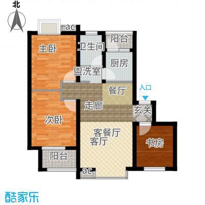 长青湖茶花小镇79.81㎡E型2面积7981m户型