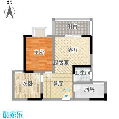 昌福盛景郦城73.20㎡B1面积7320m户型