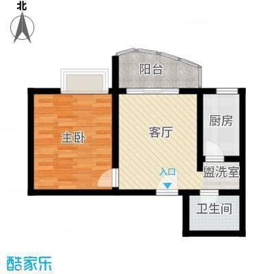 昌福盛景郦城47.73㎡一号楼G面积4773m户型