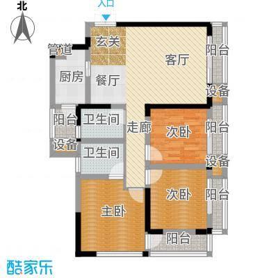 金阳牛津街小区88.56㎡1-3栋-07面积8856m户型