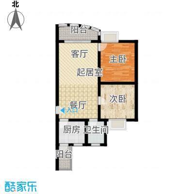 昌福盛景郦城72.11㎡一号楼D面积7211m户型