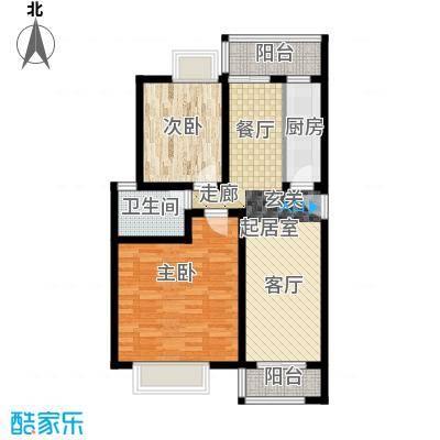 昌福盛景郦城75.33㎡四号楼M面积7533m户型
