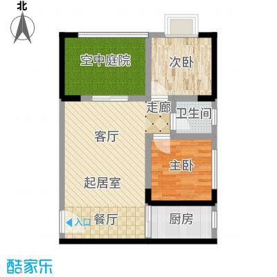 昌福盛景郦城77.87㎡E2面积7787m户型