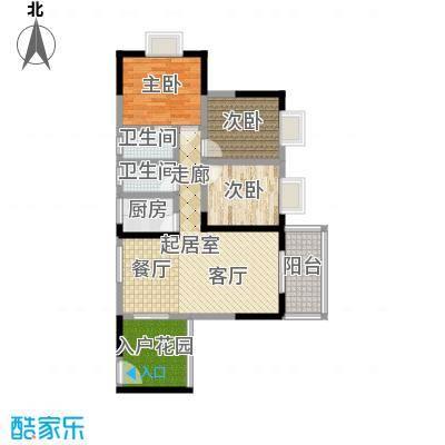 昌福盛景郦城105.83㎡A2面积10583m户型