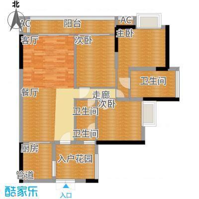 富力现代广场99.18㎡E2面积9918m户型