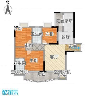 长安麒麟公馆104.13㎡2号楼1号房面积10413m户型