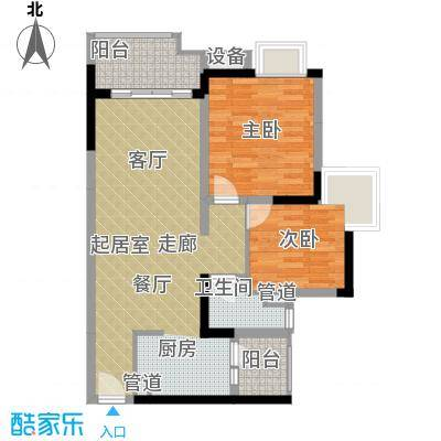 富力现代广场69.42㎡二期12号楼面积6942m户型