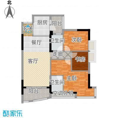 长安麒麟公馆103.39㎡1、4、6、7面积10339m户型