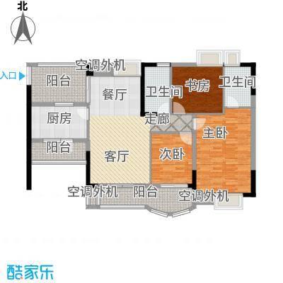 长安麒麟公馆104.99㎡1、4、6号楼面积10499m户型