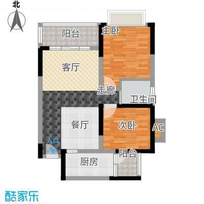 心巢御园64.87㎡1#2#楼A型2面积6487m户型