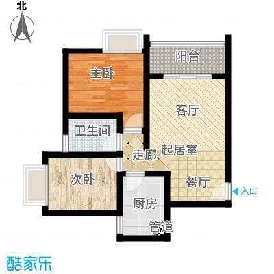 昌福盛景郦城58.04㎡一号楼B面积5804m户型