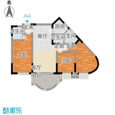 聚丰锦绣盛世93.35㎡8面积9335m户型