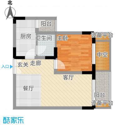 渝洲新城45.64㎡E面积4564m户型