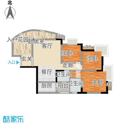 晋愉绿岛93.05㎡B-02[7栋]2面积9305m户型