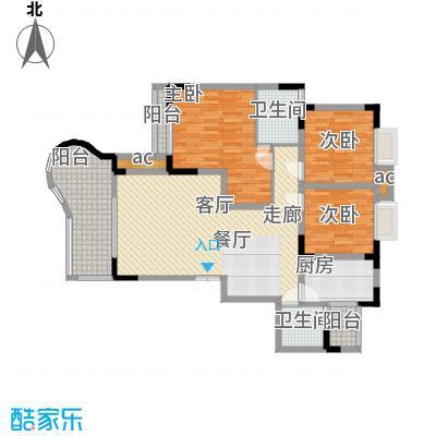 晋愉绿岛100.87㎡01-标准层面积10087m户型