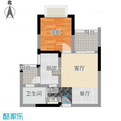 心巢御园41.78㎡1#2#楼E型1面积4178m户型
