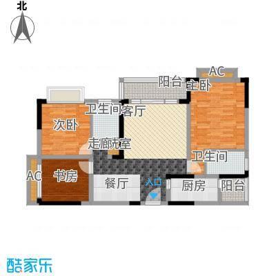 心巢御园91.83㎡1#2#楼B型2面积9183m户型