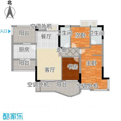 长安麒麟公馆107.30㎡7号楼3号房面积10730m户型