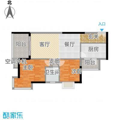 长安麒麟公馆74.78㎡1、4、6、7面积7478m户型
