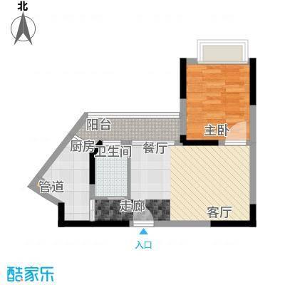 心巢御园43.73㎡1#2#楼G型1面积4373m户型