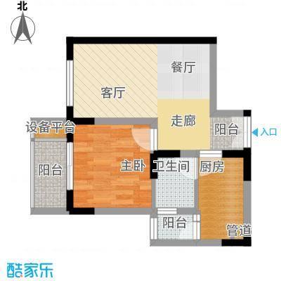 渝洲新城42.74㎡F面积4274m户型